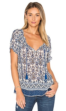 Masha K Top in Harbor Blue