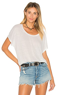 Maddie Slub Top in Porcelain