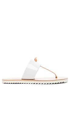 Joie A La Plage Malaga Sandal in White & Natural