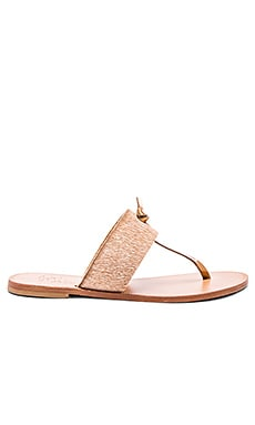Joie Nice Calf Hair Sandal in Bronze & Pinacolada