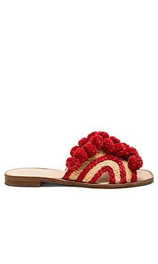 Купить Сандалии paden - Joie красного цвета