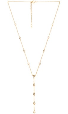 joolz by Martha Calvo Bezel Lariat Necklace in Gold