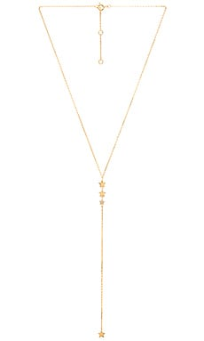 joolz by Martha Calvo Triple Star Lariat in Gold Vermeil