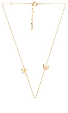 Star & Moon Choker in Gold