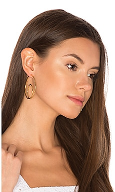 Double Loop Earrings in Gold