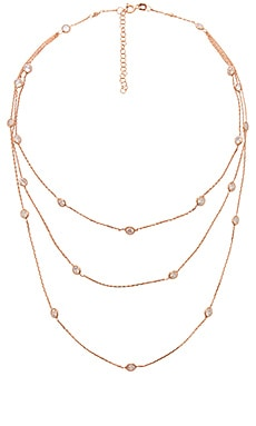 Multi Bezel 3 Layer Necklace