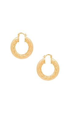 Купить Серьги-кольца swirl - joolz by Martha Calvo, Золотой, США, Металлический золотой