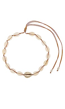 Single Gold Center Puka Choker joolz by Martha Calvo $88 BEST SELLER