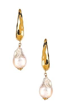 Baroque Hammered Hoop Earring joolz by Martha Calvo $143