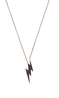 joolz by Martha Calvo Bolted Necklace in Black & Rose Gold
