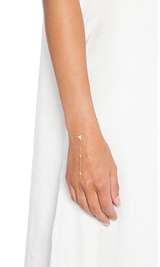 joolz by Martha Calvo Triangle Handchain in Gold