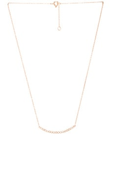 joolz by Martha Calvo Curved Bezel Bar Necklace in Rose Gold