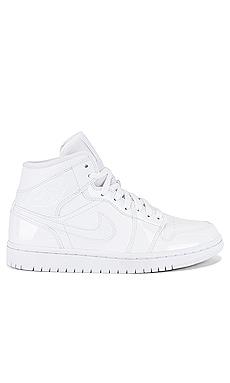 Кроссовки aj 1 mid - Jordan, Белый, Высокие