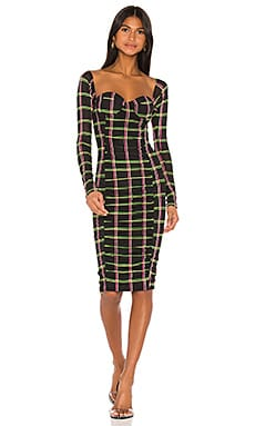 x REVOLVE Ruched Midi Dress JONATHAN SIMKHAI $325 NEW ARRIVAL
