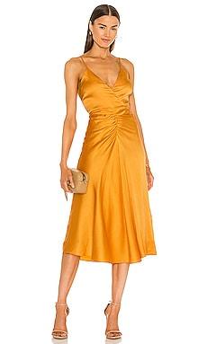 Lizeth Hammered Silk Dress JONATHAN SIMKHAI $445 NEW