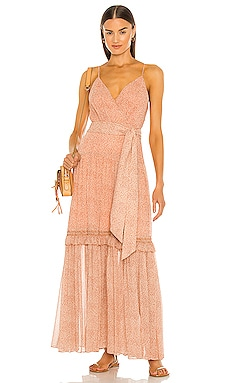 Gia Printed Crinkle Chiffon Dress JONATHAN SIMKHAI $695 NEW