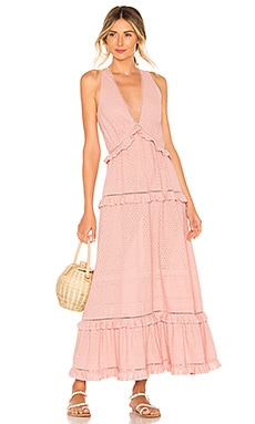 Embroidered Ruffle Tank Dress JONATHAN SIMKHAI $365