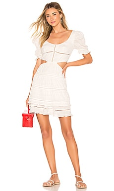 Lace Combo Cut Out Mini Dress JONATHAN SIMKHAI $168