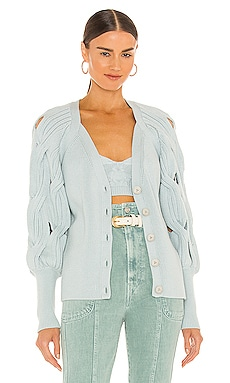 Kinley Open Cable Knit Cardigan JONATHAN SIMKHAI $395 NEW