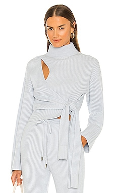 Amaris Wrap Sweater JONATHAN SIMKHAI $325 BEST SELLER