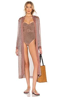 Gemma Metallic Belted Robe JONATHAN SIMKHAI $345 BEST SELLER