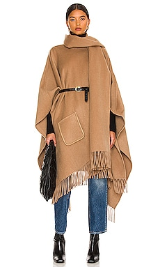Fringe Poncho With Scarf JONATHAN SIMKHAI $895 Collections