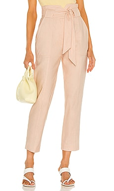 Remington Linen Tapered Cropped Pant JONATHAN SIMKHAI $295 NEW