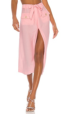 Piped Luxe Front Slit Skirt JONATHAN SIMKHAI $295 NEW ARRIVAL