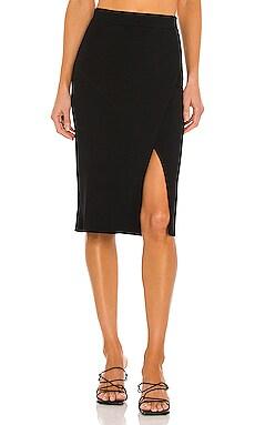 Deep Rib Wrap Skirt JONATHAN SIMKHAI $295
