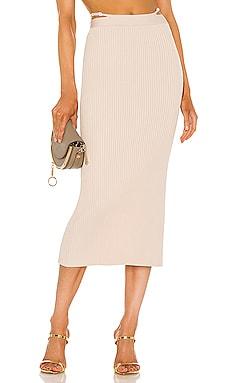 Sade Compact Rib Skirt JONATHAN SIMKHAI $355 NEW