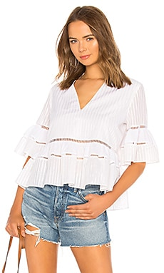 Striped Tiered Top JONATHAN SIMKHAI $112