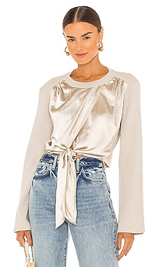 Marcela Leisure Dressing Tie Front Top JONATHAN SIMKHAI $395