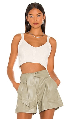 Issa Cable Bralette Tank JONATHAN SIMKHAI $175 Collections