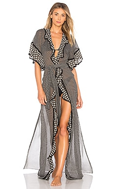 Smocked Gingham Cover Up