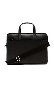 Jack Spade Barrow Leather Slim Brief in Black