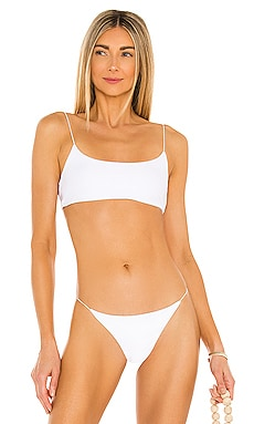 Micro Muse Scoop Bikini Top JADE SWIM $118 NEW