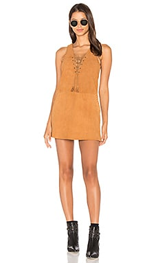 THE JETSET DIARIES Hazan Suede Dress in Camel