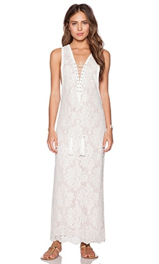 THE JETSET DIARIES Golden Rose Maxi Dress in White