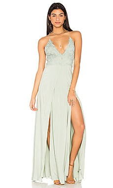 Ayanna Maxi Dress in Light Sage