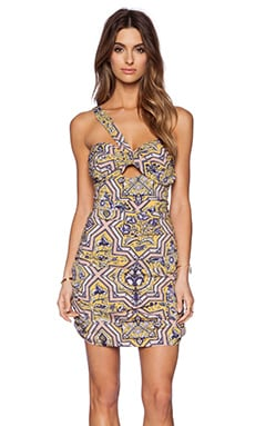 THE JETSET DIARIES Sun & Sand Dress in Tile Print