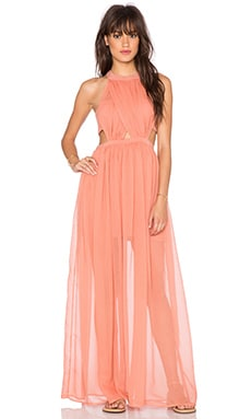 THE JETSET DIARIES Carla Maxi Dress in Burnt Orange
