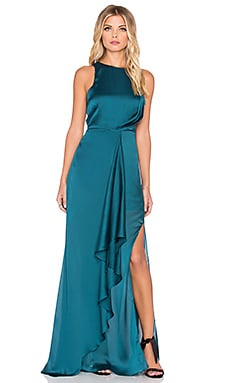 THE JETSET DIARIES Chameleon Twist Dress in Dark Teal
