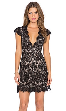THE JETSET DIARIES Fantasia Skater Dress in Black