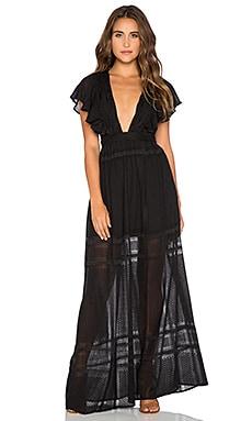 THE JETSET DIARIES Casablanca Maxi Dress in Black