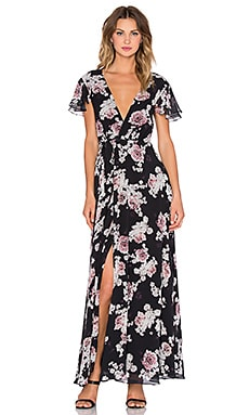 THE JETSET DIARIES Rosa Floral Maxi Dress in Rosa Floral