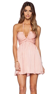 THE JETSET DIARIES Short Lived Dress in Peach