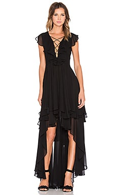 THE JETSET DIARIES Dio Maxi Dress in Black