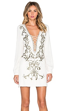 THE JETSET DIARIES Castello Dress in Ivory