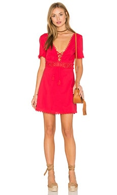 THE JETSET DIARIES Grazie Short Dress in Ruby