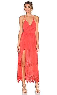 THE JETSET DIARIES Island Time Maxi Dress in Coral